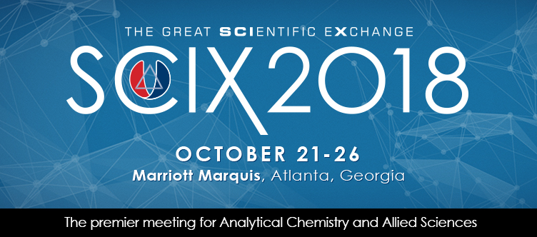 Logo for SciX 2018 Conference Oct 21-26 in Atlanta, Georgia